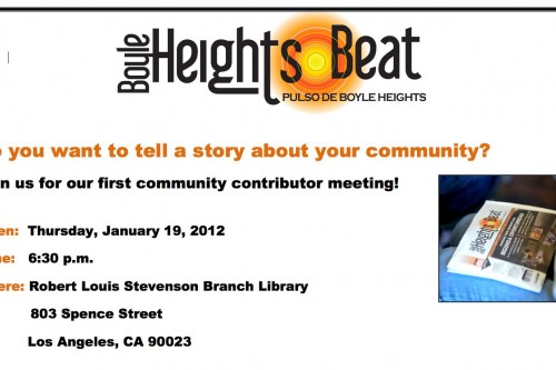 Boyle Heights Beat is seeking community contributors