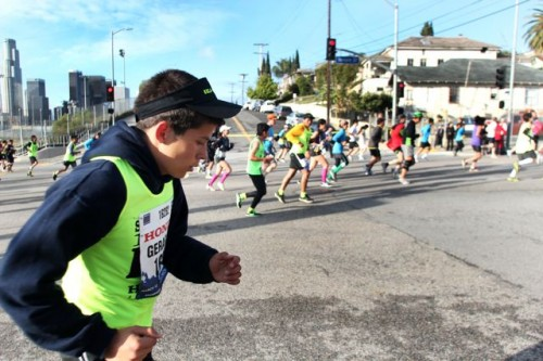 Photo slide show: Boyle Heights students run the L.A. Marathon