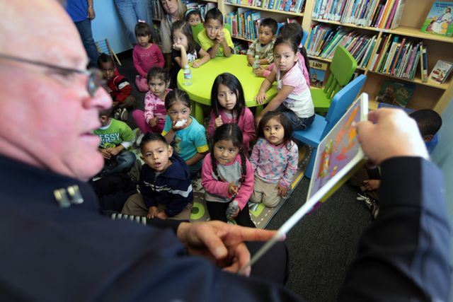 New library at Ramona Gardens provides tenants books and security