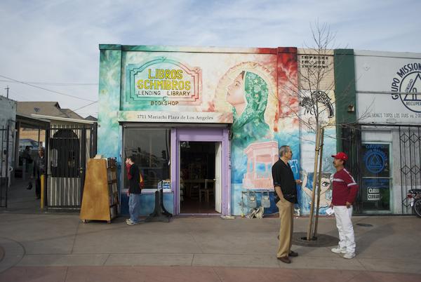 Libros Schmibros Lending Library and Bookshop now open at Mariachi Plaza