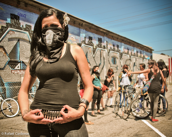 The Ovarian-Psycos Bicycle Brigade Make a Space for Women on the Eastside