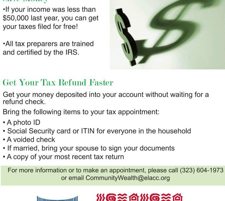 Free tax Preparation for families in Boyle Heights and East L.A.