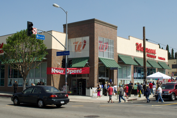 As protestors march against CVS, demanding fresh food for Boyle Heights, a Walgreens opens two blocks away