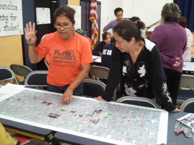 Boyle Heights community crafts Living Streets Plan for neglected roads