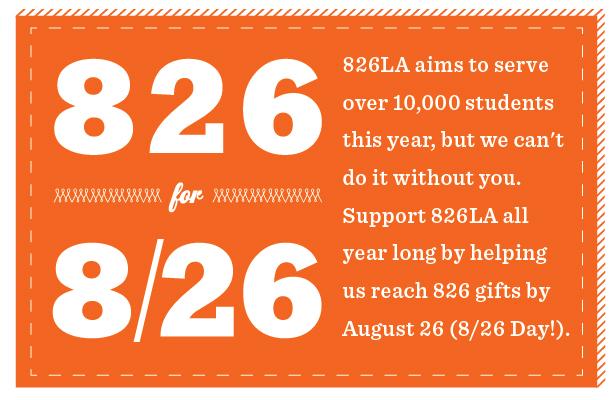 Announcement: 826LA recruiting volunteers in Boyle Heights