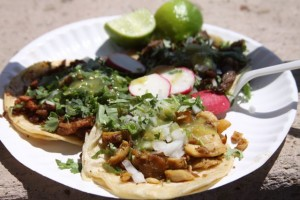 A variety of tasty tacos are the main attraction of the festival, held during its first years at Mariachi Plaza.