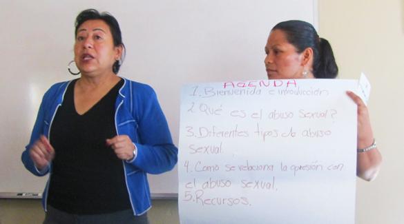 Maria Bernal and Lorena Huerta