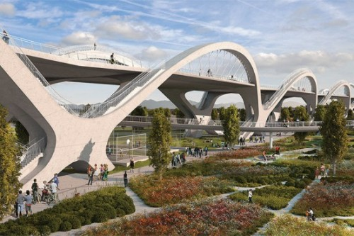 Futuristic design chosen as winner of Sixth Street Bridge competition