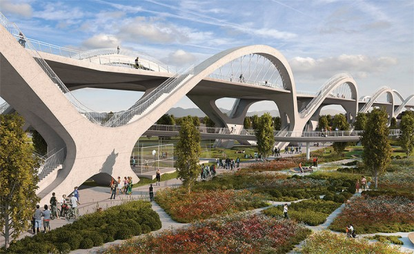 Futuristic design chosen as winner of Sixth Street Bridge competition