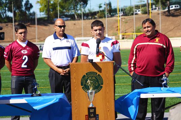Roosevelt team captain Gilbert Herrera
