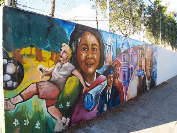 Boyle heights beat can schools provide arts education on for Educational mural