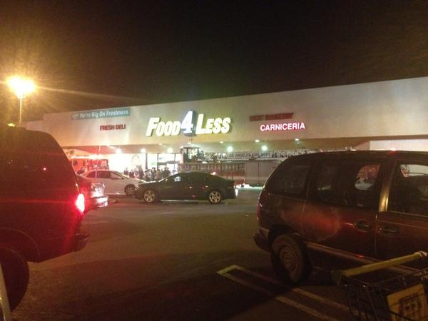 Woman shot at Food 4 Less, all four suspects in custody
