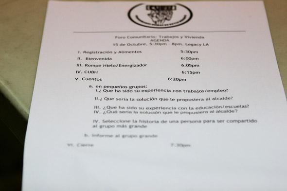 town hall agenda