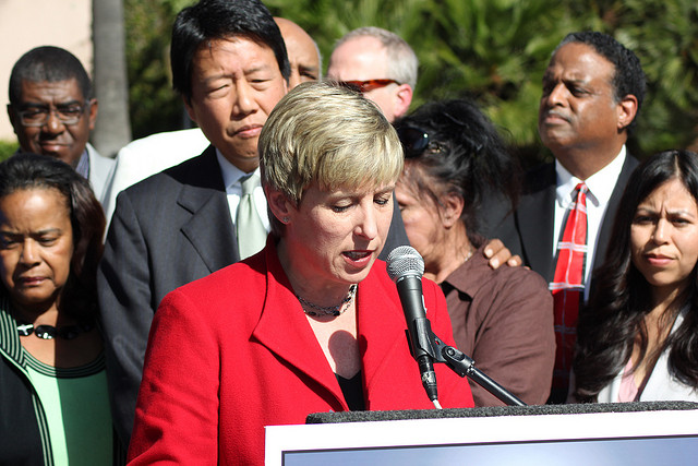 Latino leaders endorse Wendy Greuel for L.A.'s top job