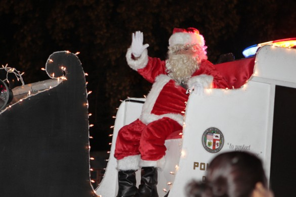 Ramona Gardens gets an early visit from Santa