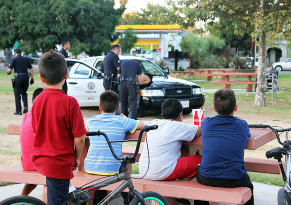 arrest in the park