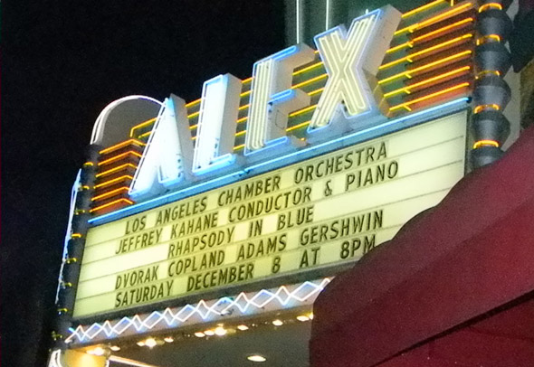 alex theater marquee