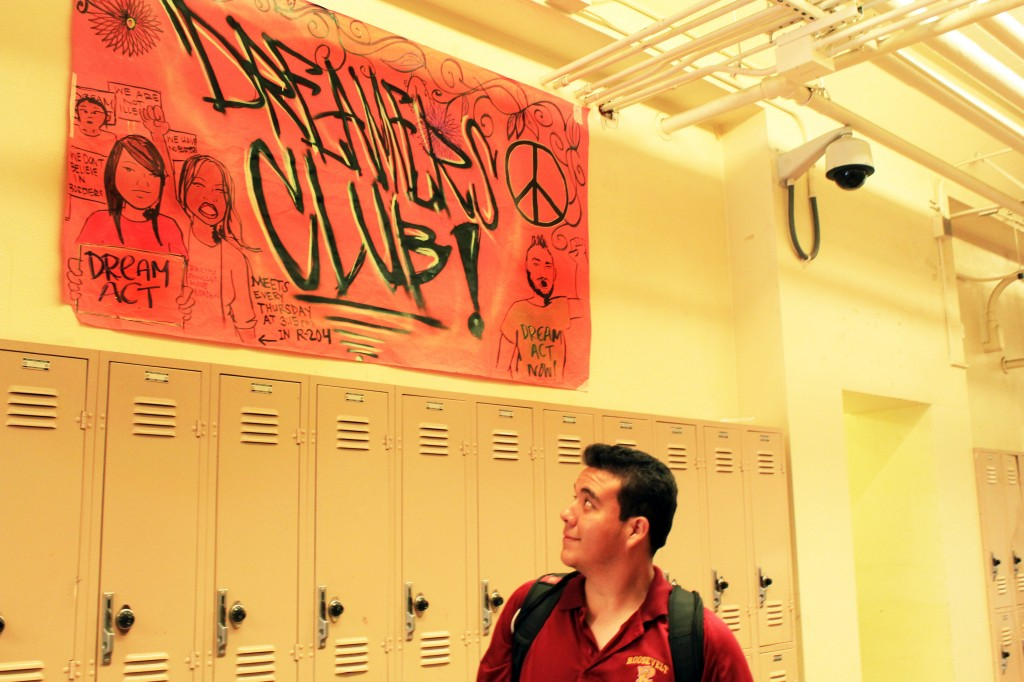 Marco Perez, a senior at Roosevelt High School, gained confidence from the school's Dreamers Club. / Photo by Mitzi Ballesteros