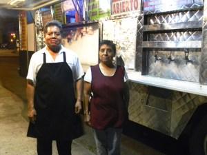 Gisela and Rafael Sanchez next to their popular taco truck.  /Photo by Juan Gutiérrez