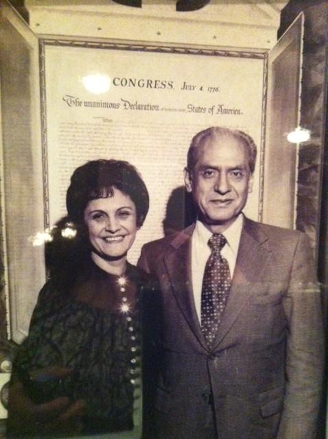 Lucille Beserra Roybal with her husband U.S. Congressman Edward R. Roybal. / Image of photo courtesy of Luz Montalvo