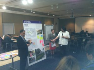 Community members were presented with four options for the historic General Hospital site. Photo by Gus Ugalde