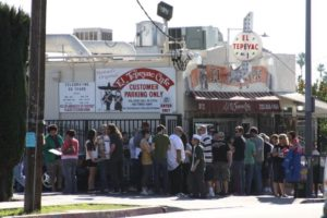 Lines form outside El Tepeyac Cafe in Boyle Heights. Photo by Erik Sarni