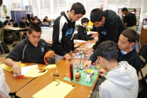 Salesian High School students participated in over 20 workshops at The Air Quality Institute Program. Photo by Gus Ugalde.