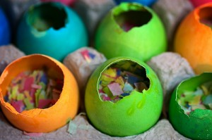 Easter cascarones are a fun spin on the typical egg hunt. Photo by Flicker user longhorndave/ Creative Commons