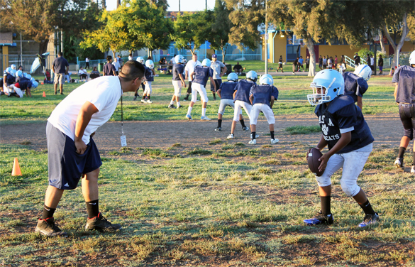 Banned East L.A. youth football and cheer program hope to get back on the field after fatal gang-related stabbing