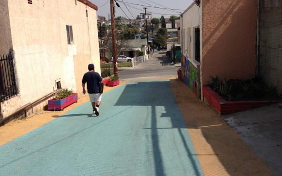 Boyle Heights residents give alleys a facelift to promote safety in their community