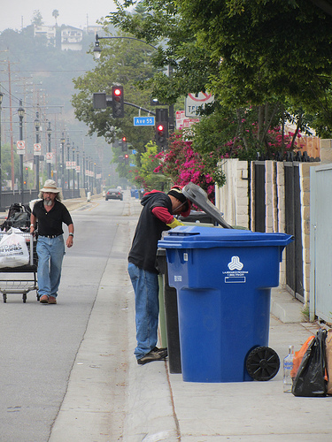 Trash picking to pay rent in East LA