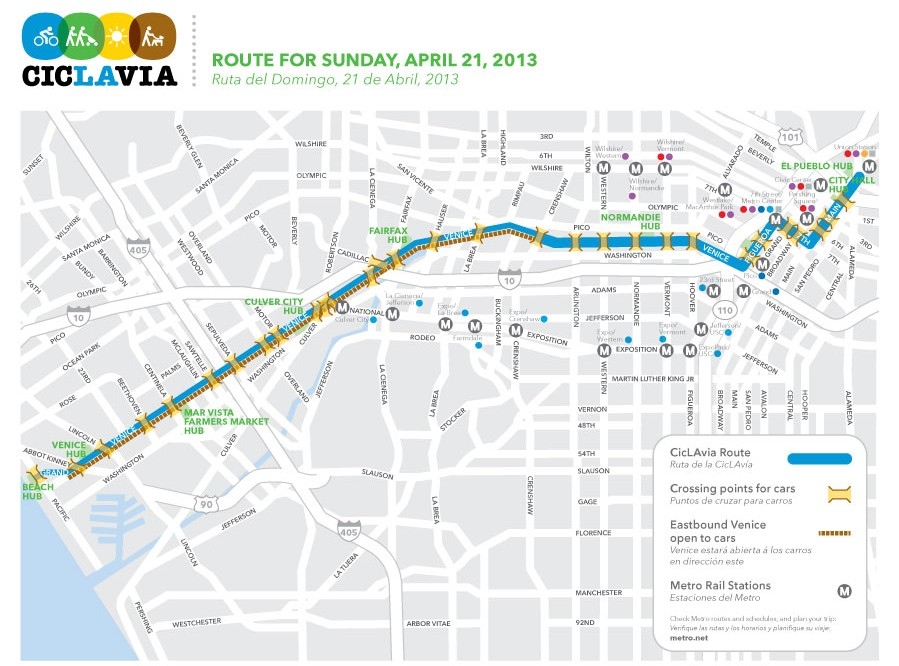 CicLAvia heads 'To the Sea,' stays out of Boyle Heights