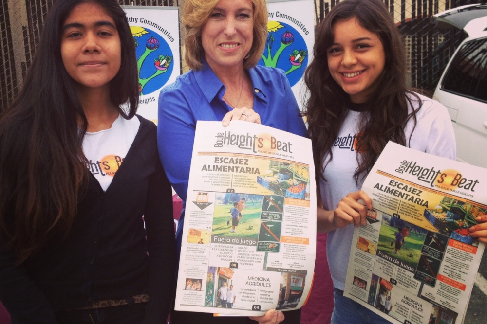 Boyle Heights Beat youth reporters interview mayoral candidate Wendy Greuel [Video]