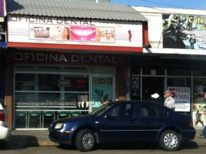 A dental office offers inexpensive care in Tijuana, MX.