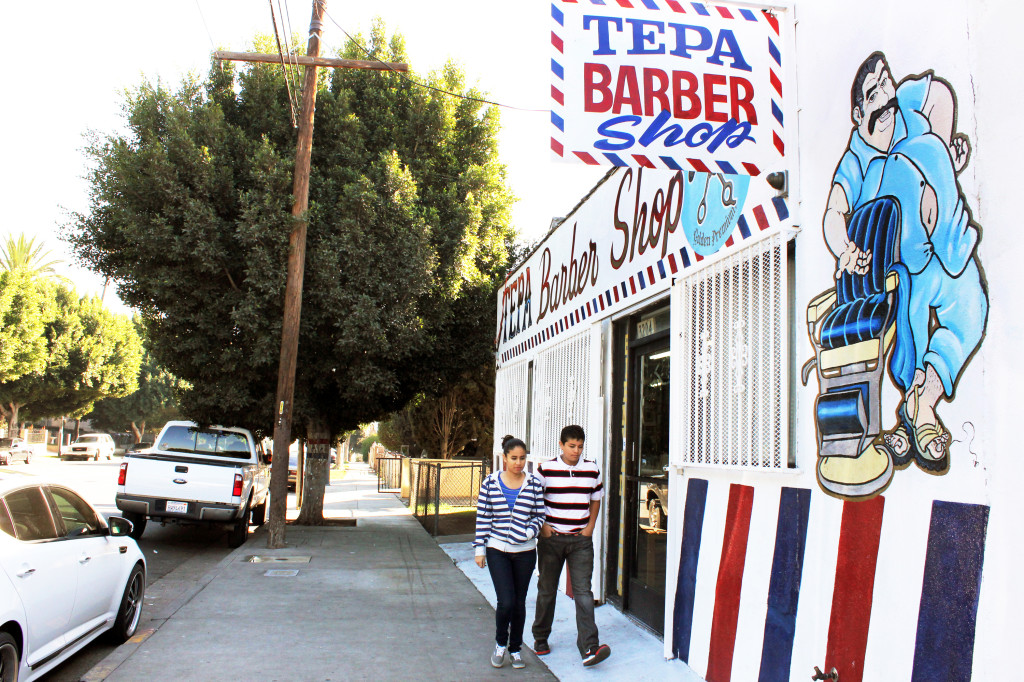 Tepa Barber Shop in Boyle Heights, located on 4th Street and Grande Vista Avenue, has been in the neighborhood for 15 years. Photo by Brizette Castellanos