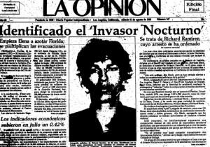 A photo of Richard Ramirez published in La Opinión in 1985. /La Opinion archive.