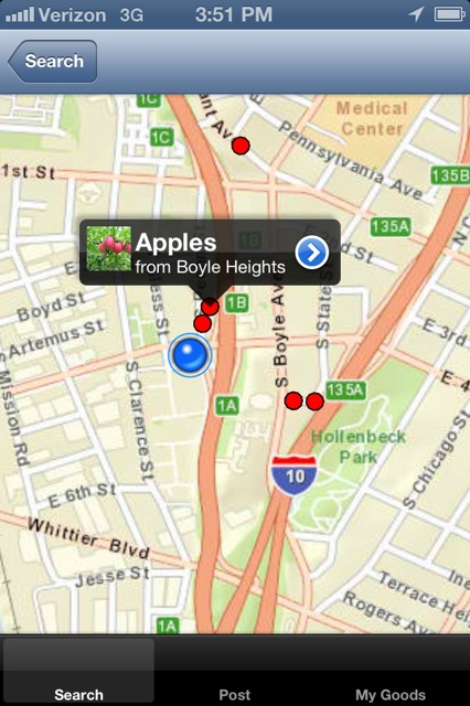 Screenshot image of app development. Courtesy of Luis Sierra Campos