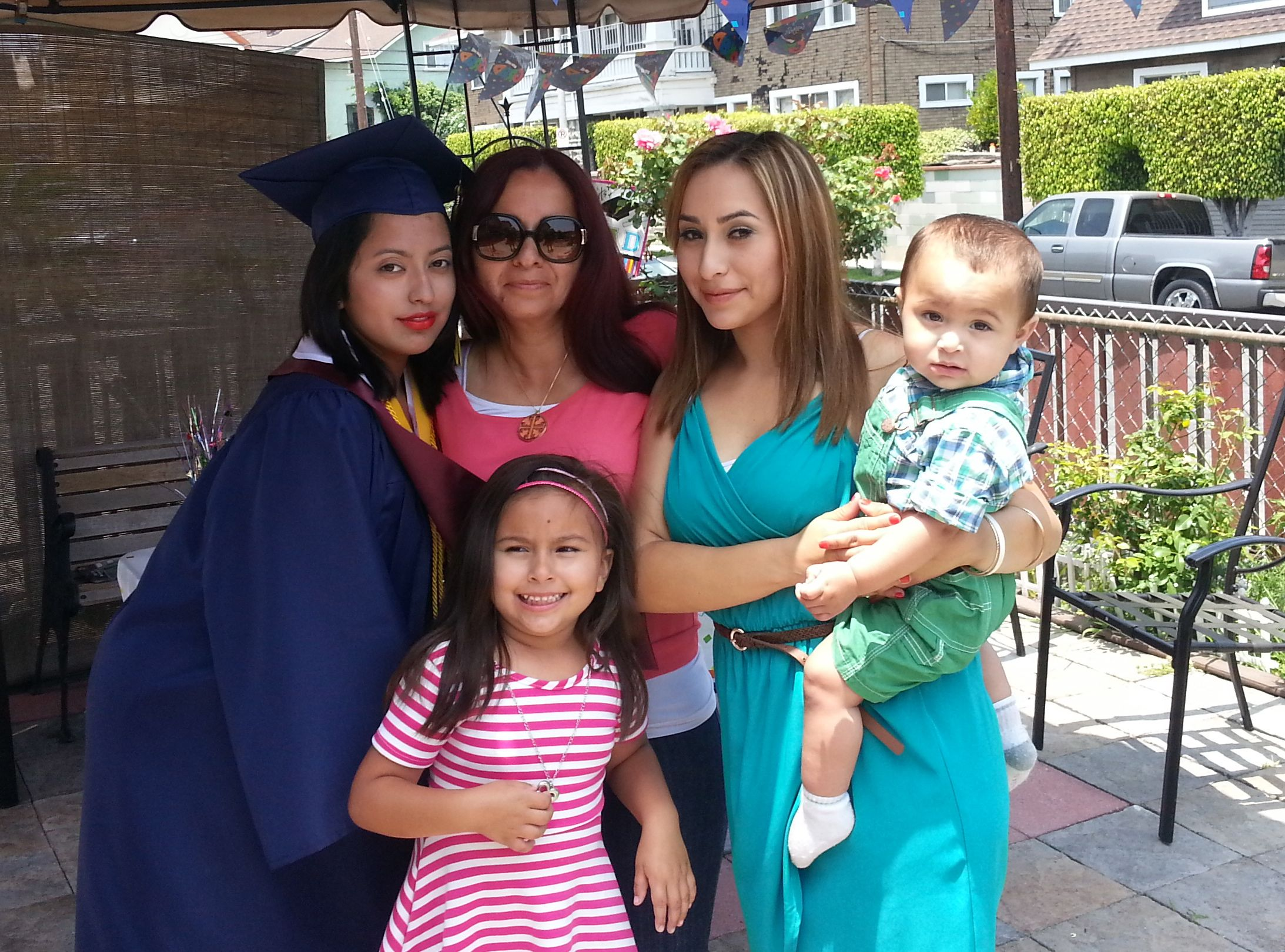 Ericka Oropeza on graduation day with her mother, Norma, her sister, Vanessa Cuenca and her nice and nephew. Photo courtesy of Ericka Oropeza