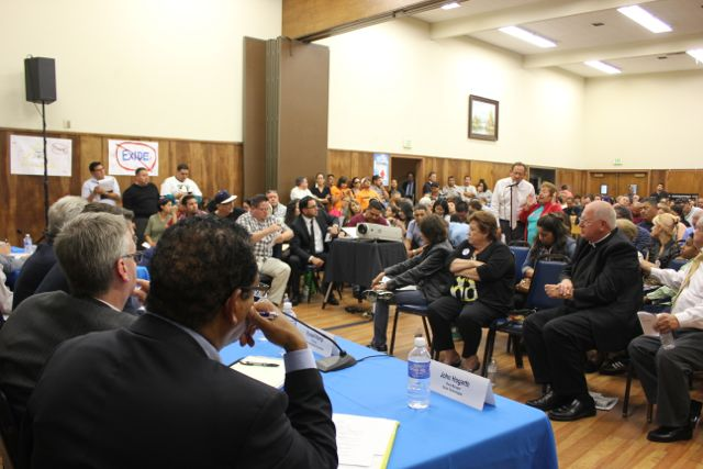 Residents and Exide plant workers share concerns at public meeting
