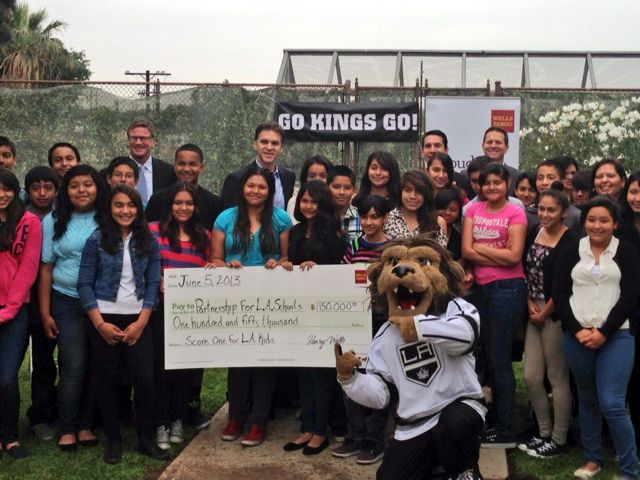 LA Kings present $150K donation at Hollenbeck Middle School