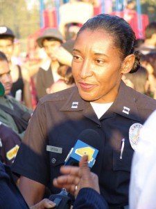 Anita Ortega served almost 4 and a half years as area Captain of Hollenbeck Division. Photo by Erik Sarni