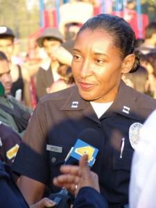 Anita Ortega serves last week as Captain of LAPD's Hollenbeck Division
