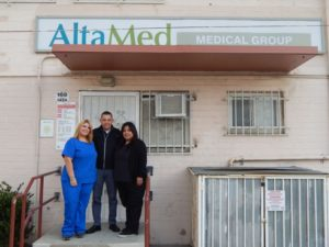 Miguel Anda and his staff provide an array of medical services at the AltaMed Health Clinic in the Ramona Gardens housing complex. Photo by Ivan Villanueva