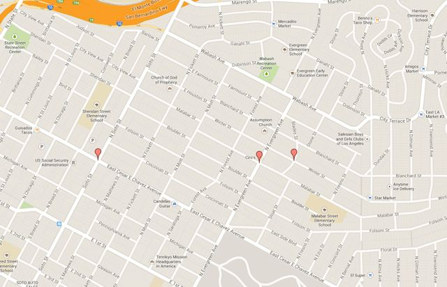 Trick-or-treating hotspots in Boyle Heights