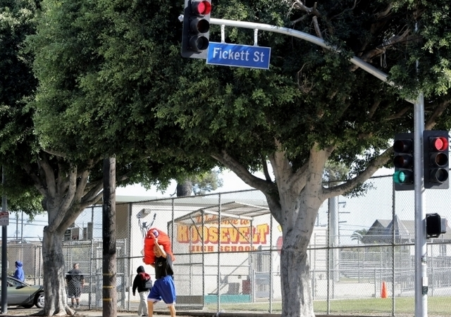 Traffic light installed at dangerous intersection outside Roosevelt High School