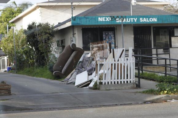 Boyle Heights resident photographs bulky waste to raise awareness of neighborhood issue