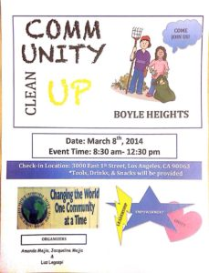 Boyle Heights Clean Up Poster # 2