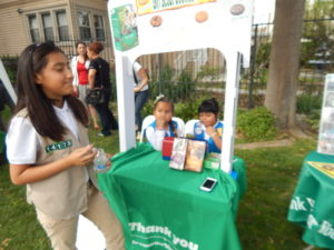 Girls ages six to X are part of the Girl Scouts Troop in Ramona Gardens. Photo by Marcia Facundo