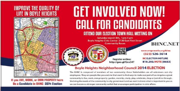 Consejo Vecinal de Boyle Heights: Abierta la convocatoria para los candidatos