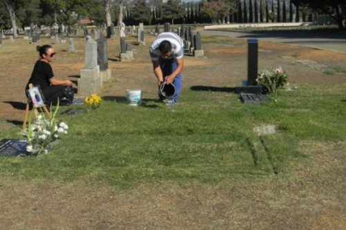 Families, politicians push for improvements at Evergreen Cemetery
